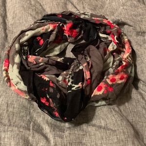 Urban outfitters floral printed infinity scarf